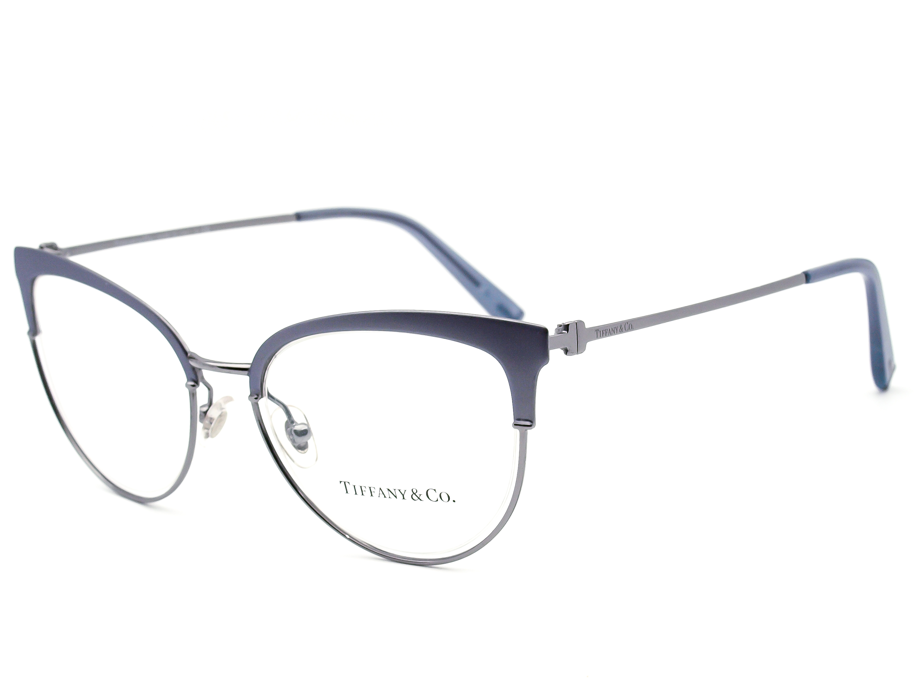 Tiffany & Co Eyeglasses TF1132 6134 Blue/Gunmetal Cat Eye Frame Italy 51[]18 140