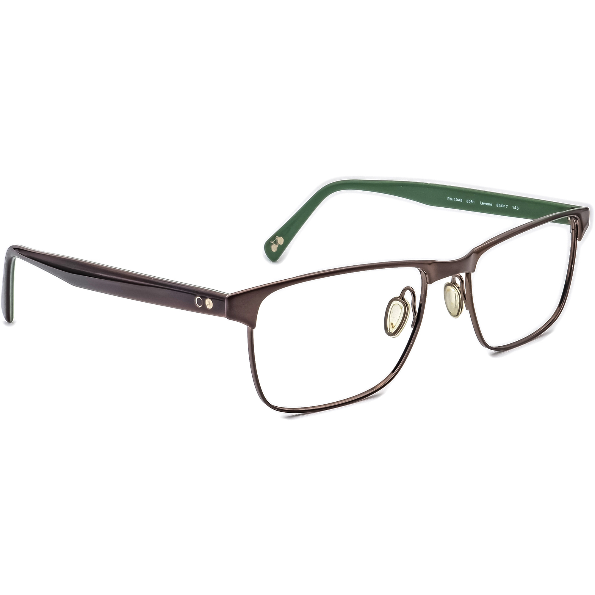 Paul Smith Eyeglasses PM 4048 5081 Brown/Green Frame Italy 54[]17 145 Handmade