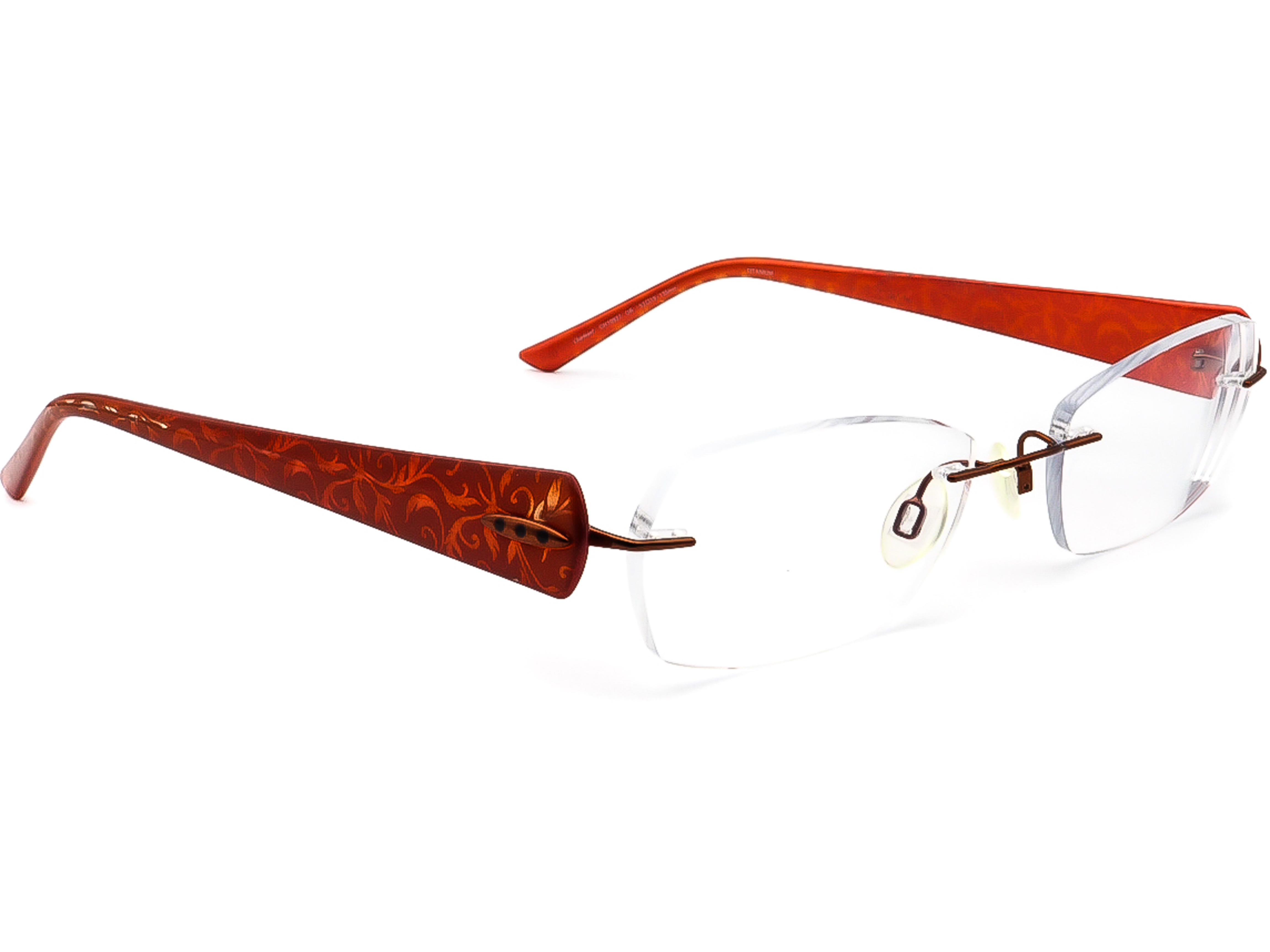 Charmant CH 10927 OR Titanium Eyeglasses