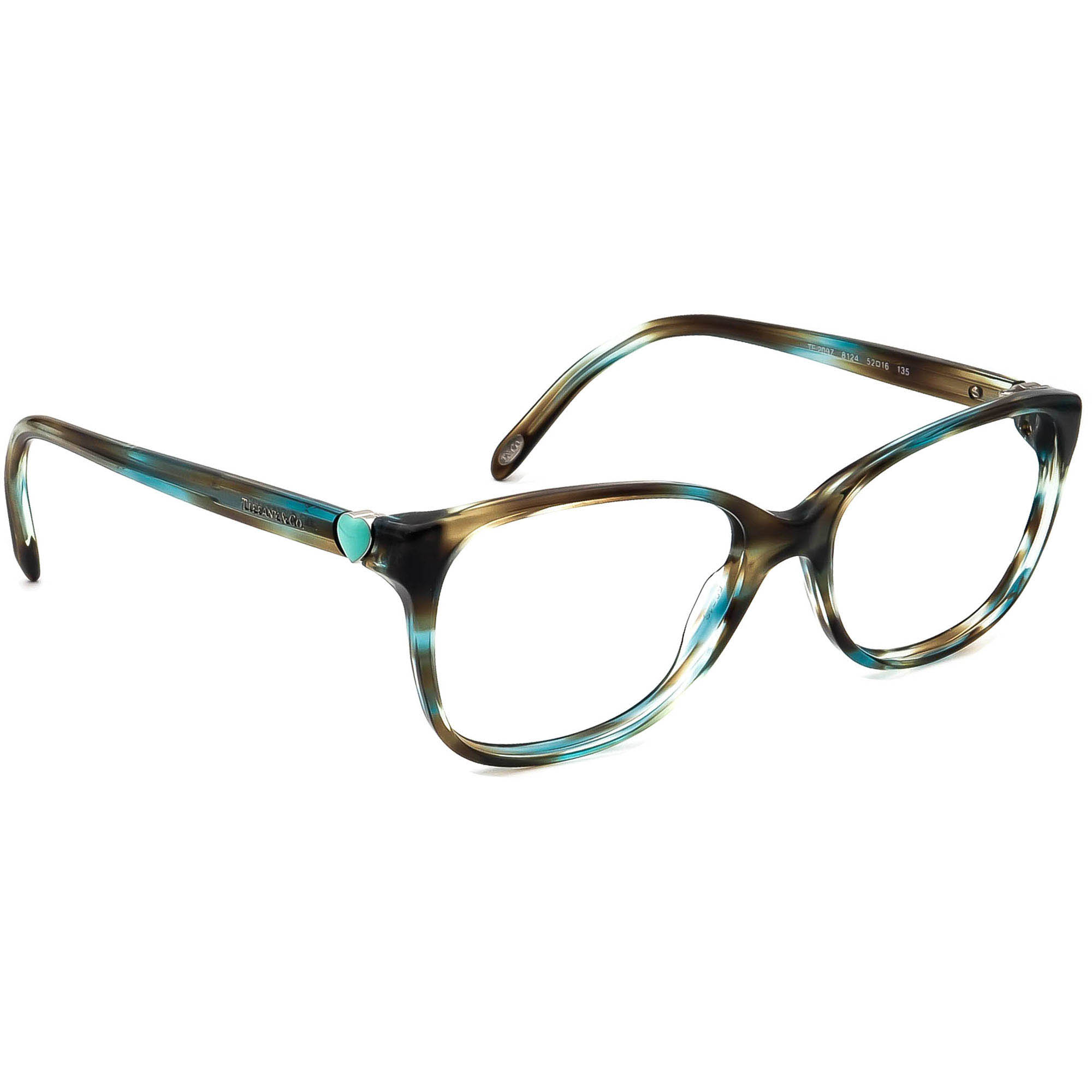 Tiffany & Co. Eyeglasses TF 2097 8124 Ocean Tortoise Frame Italy 52[]16 135