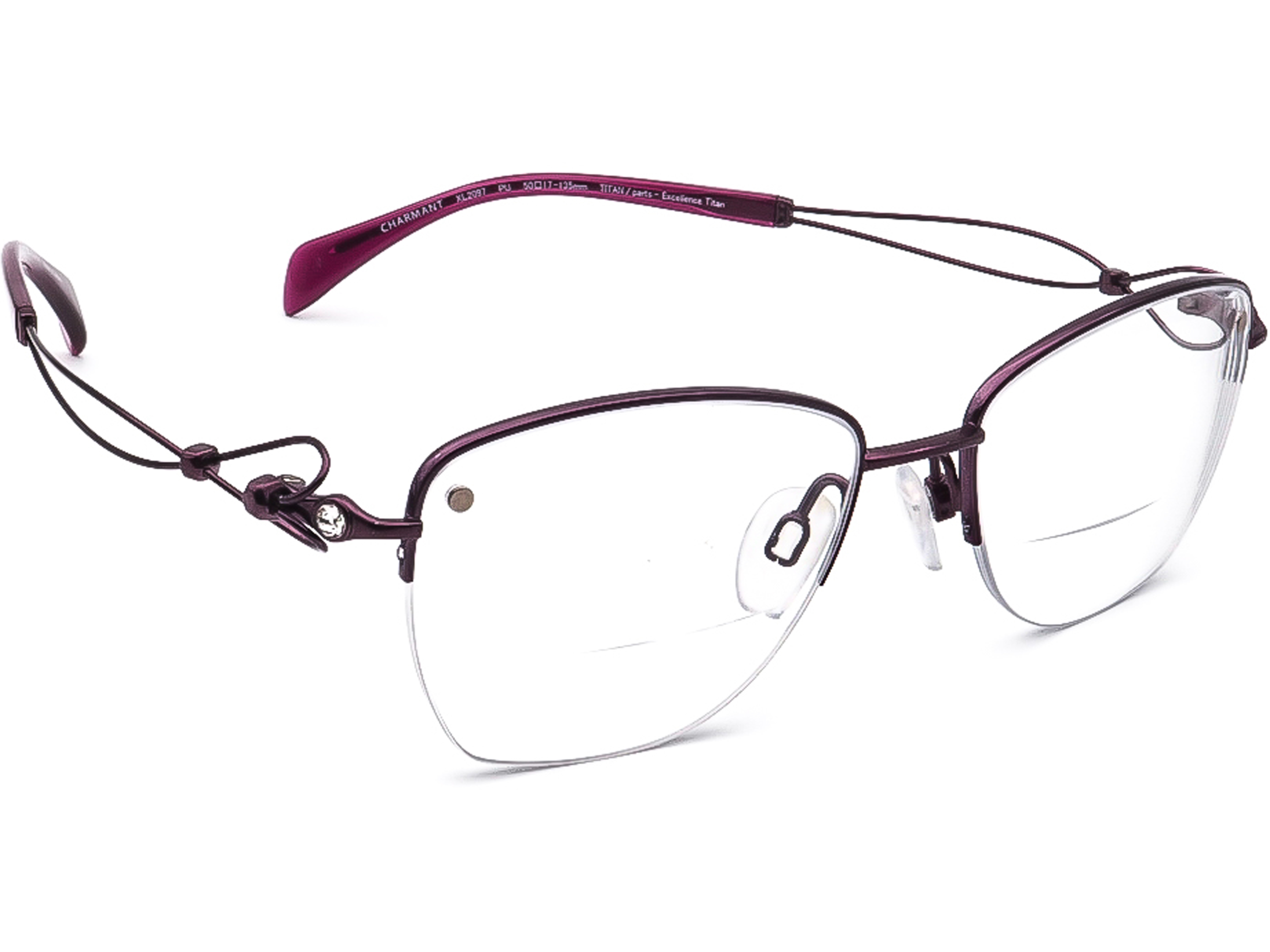 Charmant XL2097 PU Line Art Titan Eyeglasses