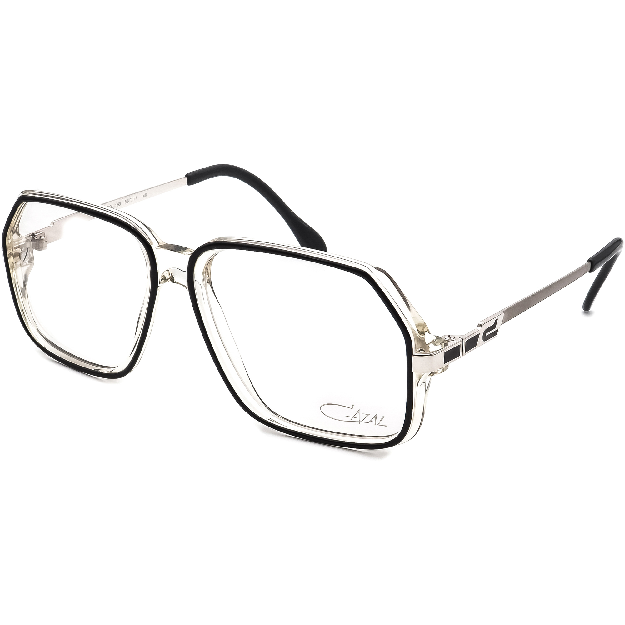 Cazal Eyeglasses MOD.625 COL.163 Black & Clear/Silver Frame Germany 56[]17 140