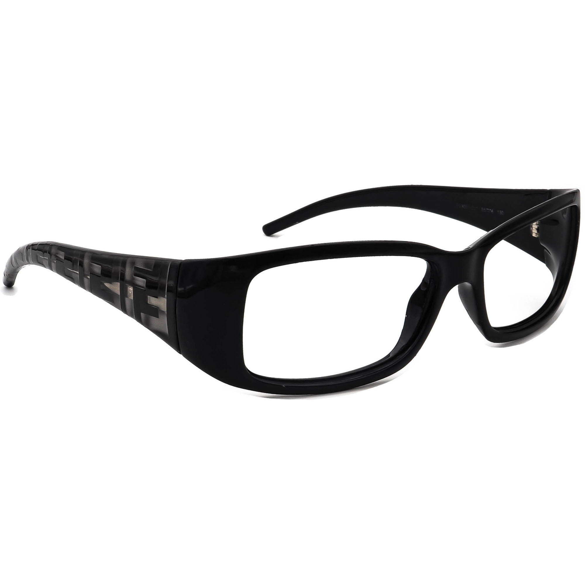 Fendi Women's Eyeglasses FS300 001 Black Rectangular Frame Italy 55[]16 130